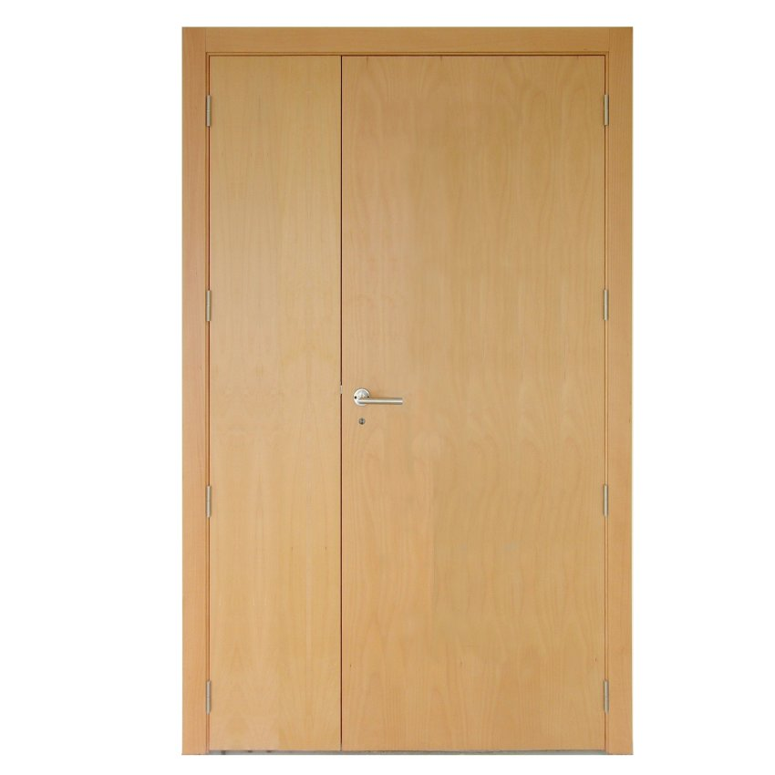 Bomport porte double tierce 1 3 battant fixe 2 3 sur mesure for Porte interieur bois double battant
