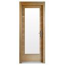 Porte intérieur bois vitrée porte contemporaine design insert inox
