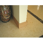 plinthe medium mdf placage bois